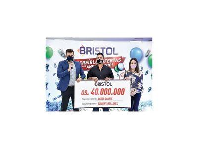 Bristol regaló 40 millones de guaraníes en efectivo