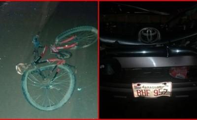 Ciclista muere tras ser arrollado por una camioneta en la Ruta PY 02