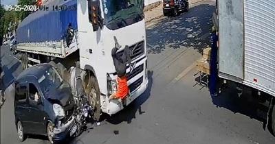 Accidente fatal sobre Teniente Benítez