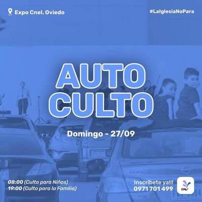 Organizan primer auto culto en Coronel Oviedo – Prensa 5