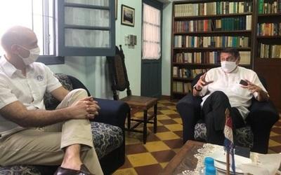 Mazzoleni y Obispo se reúnen ante novenario de Caacupé