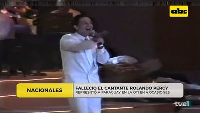 Falleció el cantante Rolando Percy