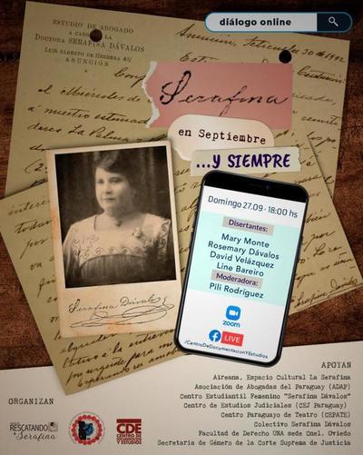 Invitan a conversatorio para recordar a Serafina Dávalos