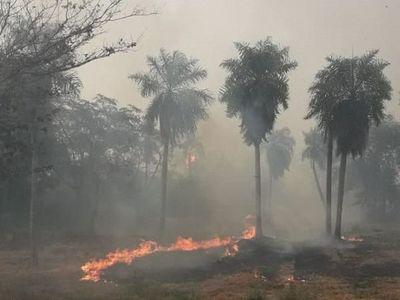 Cerro Patiño se quema y bomberos no dan abasto