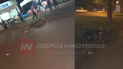 CHOQUE FRONTAL ENTRE MOTOCICLETAS DEJA UN FALLECIDO EN BELLA VISTA.