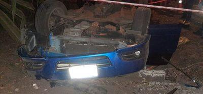 Vuelco de vehículo con derivación fatal en Caacupé
