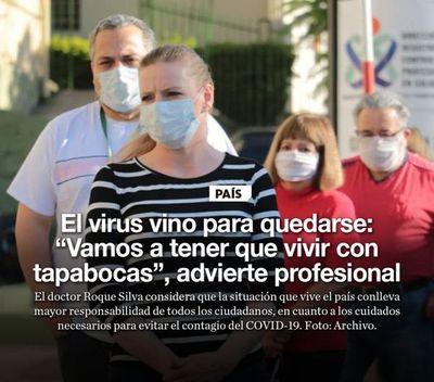 """El virus vino para quedarse: """"Vamos a tener que vivir con tapabocas"""", advierte profesional"""