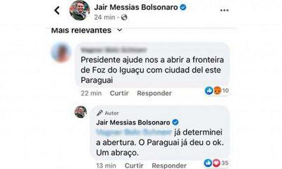 Bolsonaro dice que ya dio orden para habilitar frontera