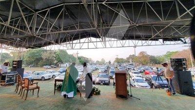 """Concepción: Celebraron """"auto misa"""" por la liberación de Denis, Edelio y Urbieta"""