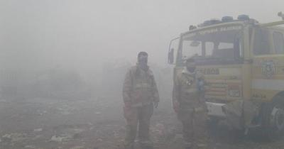 Domingo con ambiente denso por humareda de incendios