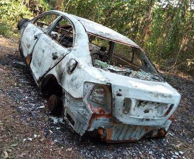 Hallan quemado vehículo robado a un abogado