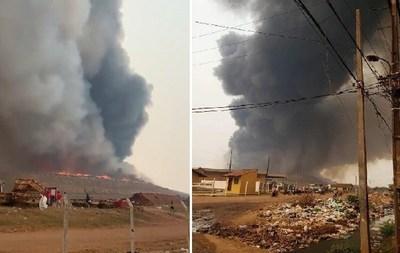 Otra vez se incendia Cateura y pobladores deben dejar sus viviendas