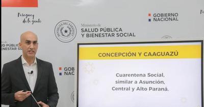 Cuarentena social en Concepción y Caaguazú se extiende hasta octubre