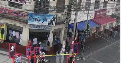 La Nación / COVID-19: Tecnología mide distanciamiento entre personas en las calles