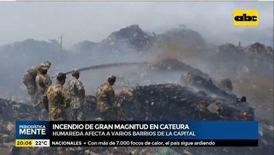 Incendio de gran magnitud en vertedero Cateura
