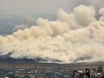 Alertan que polución por incendios puede afectar a         pacientes con Covid
