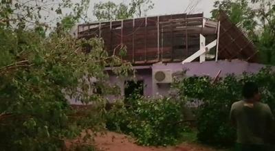 Localidades del norte del país fueron afectadas por fuertes vientos y caída de granizos