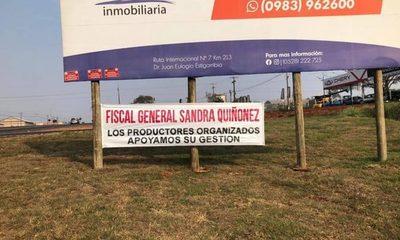 Productores organizados dan su público respaldo a gestión de Sandra Quiñónez – Diario TNPRESS
