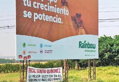 Con pasacalles cañicultores de Caaguazú expresan apoyo a la gestión de Sandra Quiñónez