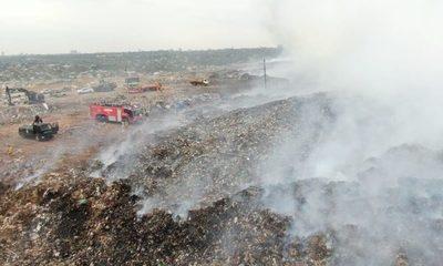 Incendios en Cateura: Contaminación, desesperación y huidas en medio del humo y fuego