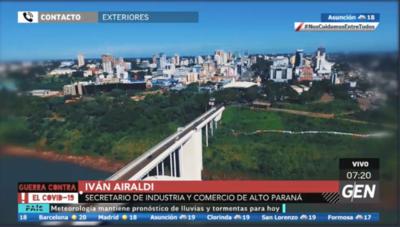 HOY / Iván Airaldi, secretario de Industria y Comercio de Alto Paraná, sobre la reapertura de frontera