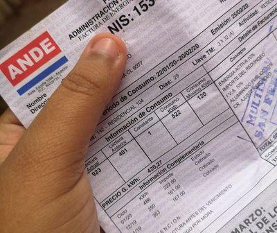 ANDE fraccionará automáticamente facturas no exoneradas entre marzo a setiembre de 2020