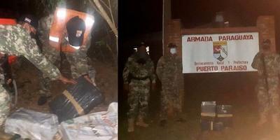 ARMADA PARAGUAYA INCAUTA CARGA DE MARIHUANA EN ZONA DE PUERTO PARAÍSO.