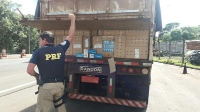 Cae carga de 450 mil gruesas de cigarrillos llevados en forma ilegal desde el Paraguay