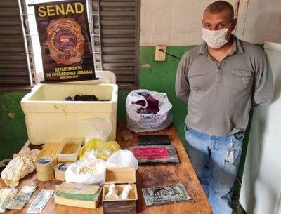 Desmantelan narcolaboratorio en el barrio María Victoria