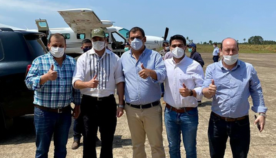 Gobernador de Caazapá acompañó jornada de gobierno de Mario Abdo