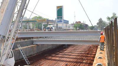 Multiviaducto de CDE: avanzan estructuras en las avenidas colectoras