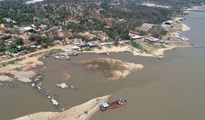 Nivel del río Paraguay continúa con marcas negativas
