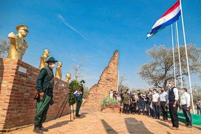 Mario Abdo estuvo presente en Fortín Boquerón para conmemorar aniversario de la batalla
