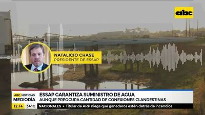 Essap garantiza suministro de agua para Central y Asunción