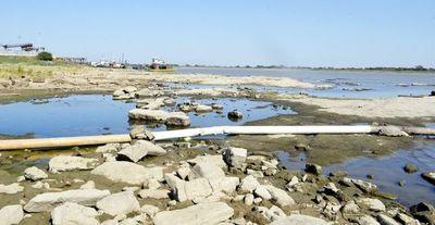El río Paraguay continúa bajando y pone en riesgo la navegabilidad
