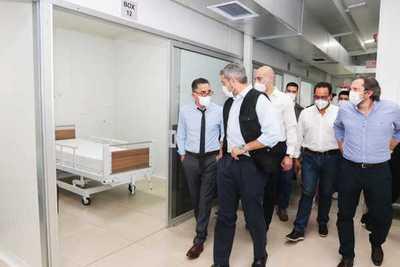 Marito inauguró pabellón de contingencia para pacientes con covid-19