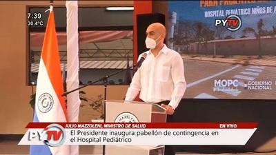 Mazzoleni confirma reducción de casos activos de coronavirus