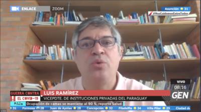 HOY / Luis Ramírez, vicepresidente de Instituciones Privadas del Paraguay, obre la vuelta a clases en el 2021
