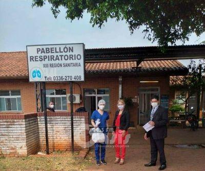 Juzgado de Pedro Juan dona equipos de bioseguridad