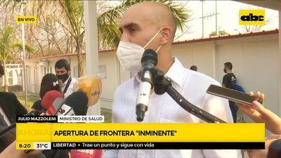 """Apertura de fronteras con Brasil es """"inminente"""""""