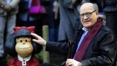 A los 88 años falleció Quino, el creador de Mafalda