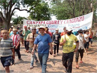 Indígenas se movilizan y cierran ruta en Caaguazú