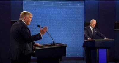 Trump y Biden con rating moderado