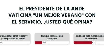 La Nación / La ciudadanía no cree en que la Ande mejore su servicio, según la encuesta LN