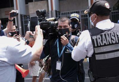 Bloqueos de calles marcan protestas contra negociación con FMI en Costa Rica