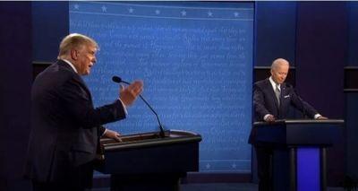 Trump y Biden con teleaudiencia moderada