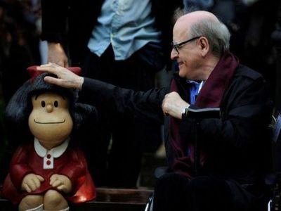La niña rebelde Mafalda y el mundo lloran la partida del querido Quino
