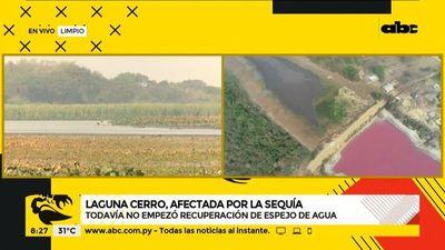Laguna Cerro de Limpio, afectada por la sequía
