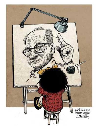 ¡Buen viaje maestro! 15 entrañables homenajes de ilustradores a Quino, creador de Mafalda