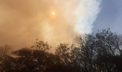 Incendios tiñen el cielo sobre Central